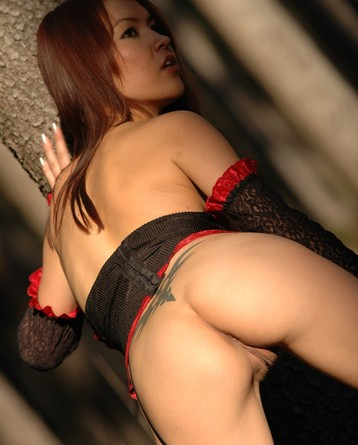 Hot Asian Beauty In Sexy Corset Manyvids 1
